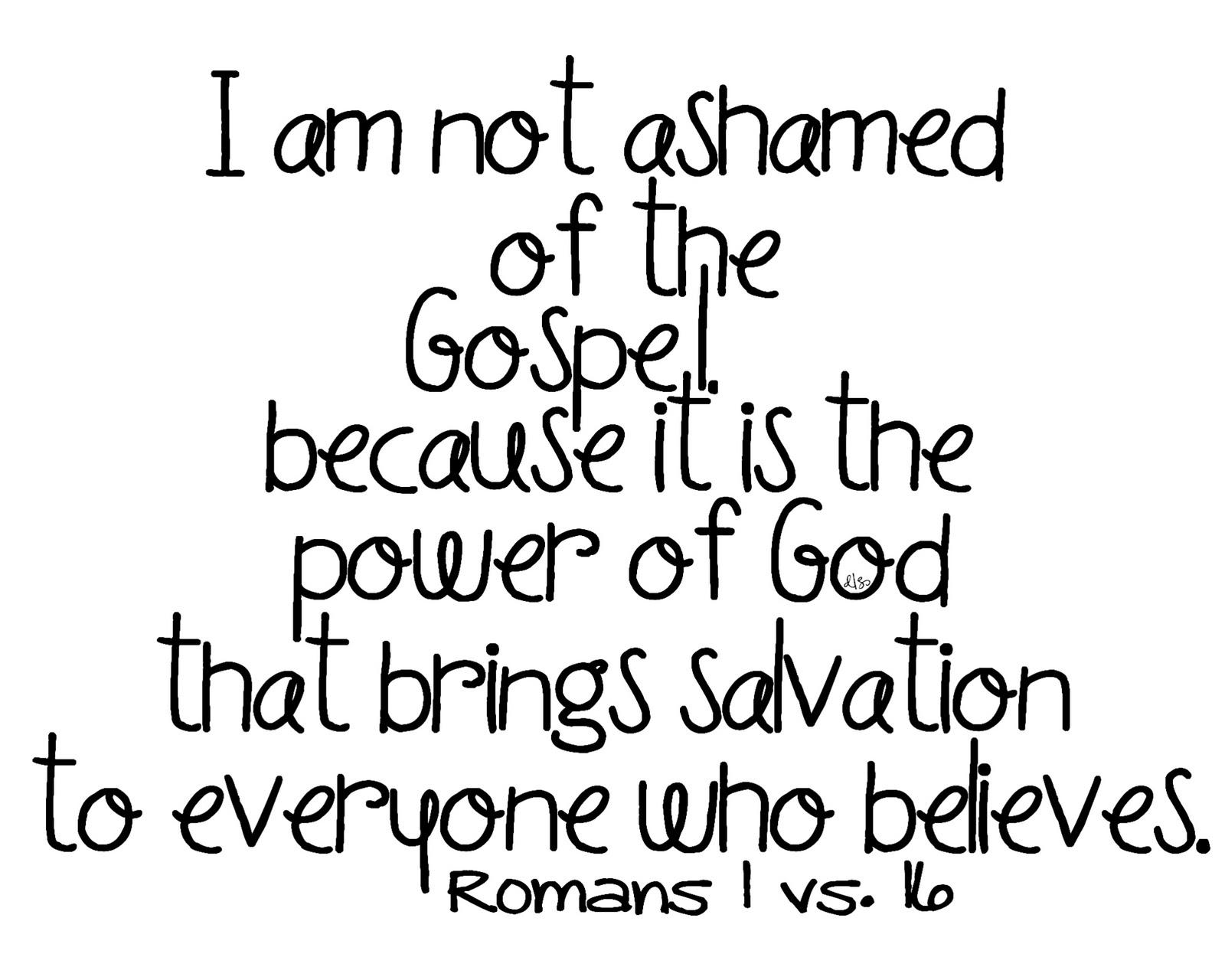 Romans 1 16 Good News Christian Church